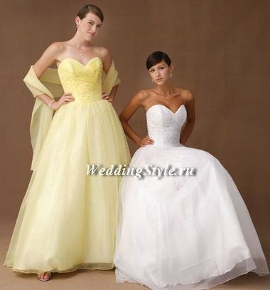 Жёлтое / золотое свадебное платье
