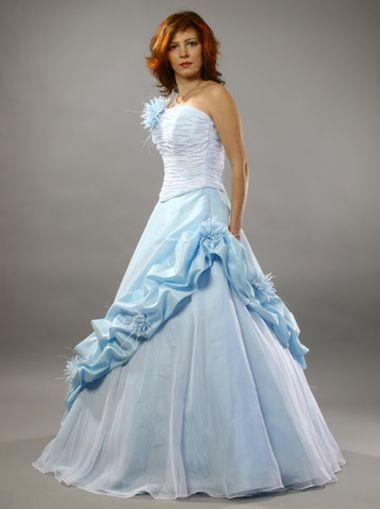 Синее / голубое свадебное платье