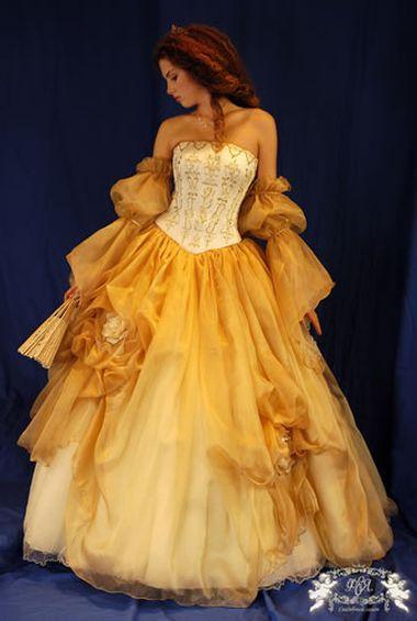 Платье оранжевое свадебное
