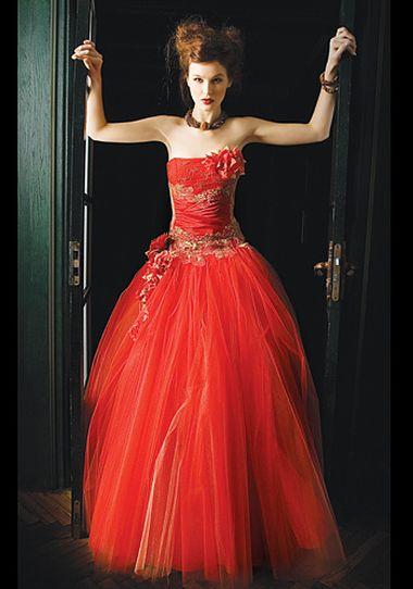 Свадебное красное платье цены