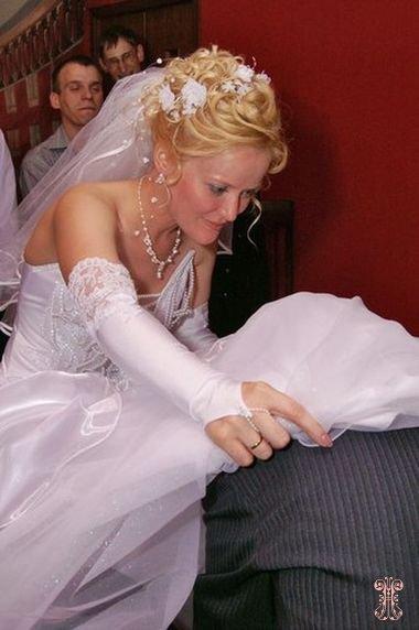 Что под юбкой на свадьбе