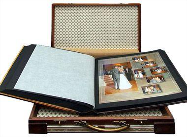 Магнитный альбом для фотографий свадебный