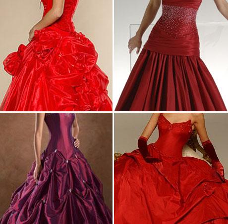Выбираем красное свадебное платье